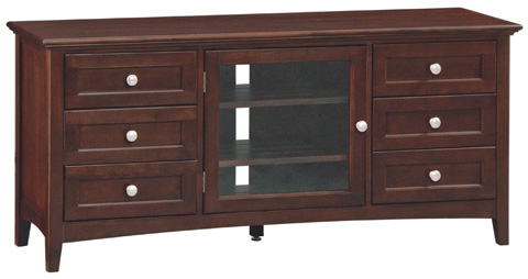 Whittier Wood Furniture - McKenzie Media Console - 2069CAF