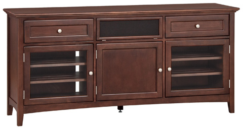 Whitter Wood Furniture - McKenzie Center Channel Console - 2074CAF