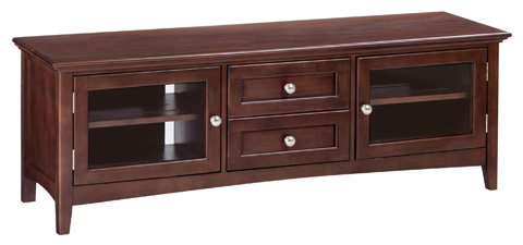 Whittier Wood Furniture - McKenzie Two Drawer Media Console - 2079CAF
