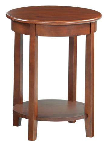 Whittier Wood Furniture - McKenzie Round Accent Table - 3494GAC