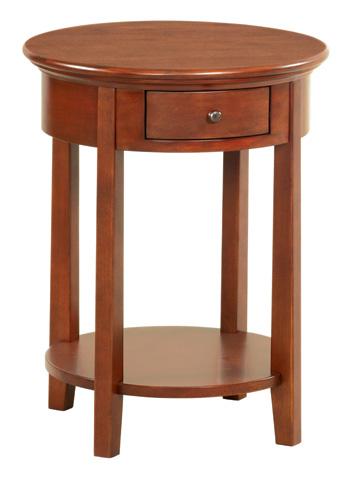 Whittier Wood Furniture - McKenzie Round Side Table - 3495GAC