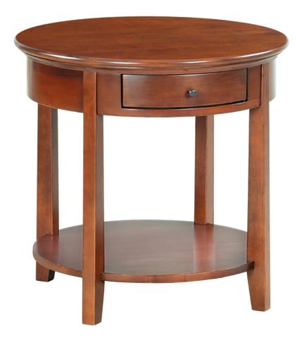 Whittier Wood Furniture - McKenzie Round End Table - 3510GAC