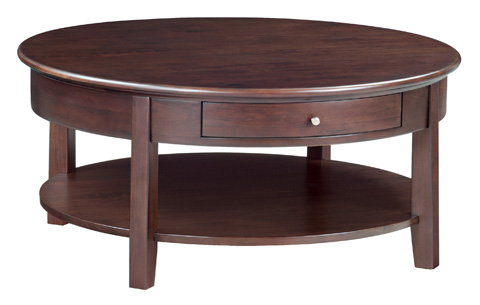 Whittier Wood Furniture - McKenzie Round Cocktail Table - 3512CAF