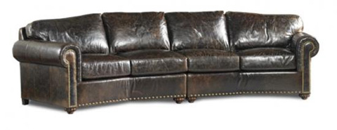 Image of Leather Sectional