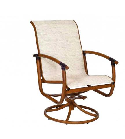 Woodard Company - Glade Isle Sling Swivel Rocker Dining Arm Chair - 1Q0472