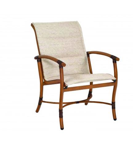 Woodard Company - Glade Isle Padded Sling Dining Arm Chair - 1Q0501