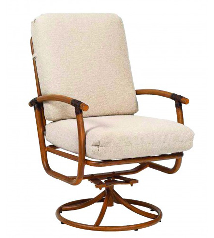 Woodard Company - Glade Isle Cushion Swivel Rocker Dining Arm Chair - 1T0472