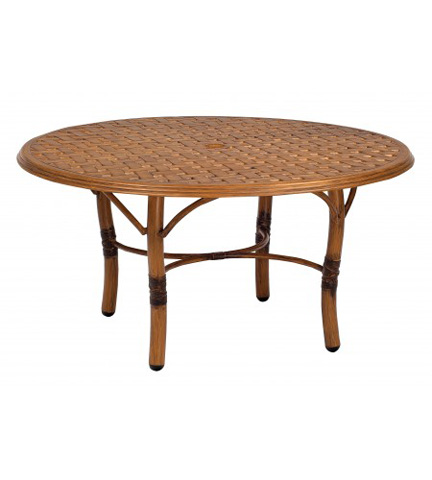 Woodard Company - Glade Isle Round Coffee Table with Thatch Top - 1T54BT