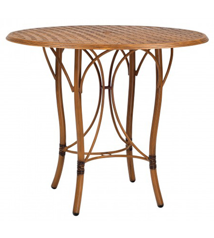 Woodard Company - Glade Isle Round Bar Height Table with Thatch Top - 1T66BT