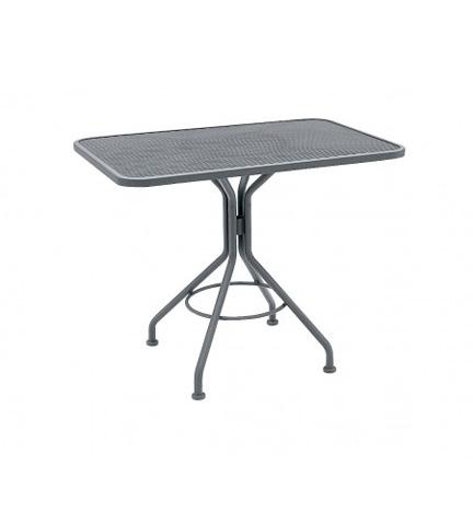 Woodard Company - Rectangle Umbrella Table with Pedestal Base - 280030
