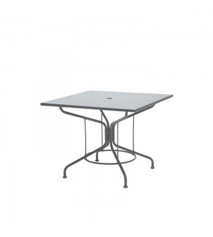 Woodard Company - Textured Black Square Mesh Top Umbrella Table - 280052.17