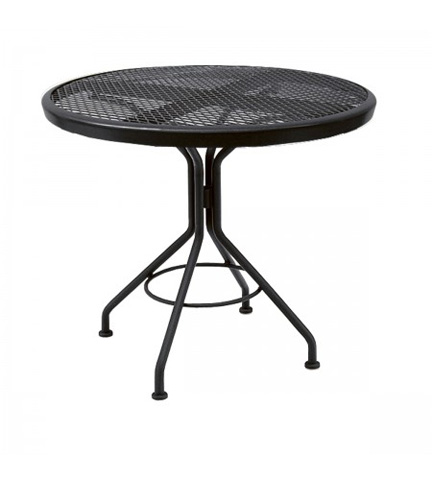 Woodard Company - Mesh Round Bistro Table with Pedestal Base - 280134