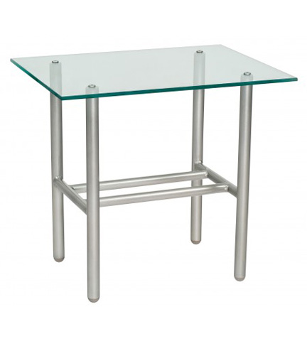 Woodard Company - Uptown Glass Top End Table - 2H0039