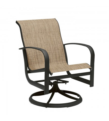 Woodard Company - Fremont Sling Swivel Rocker Dining Arm Chair - 2P0472