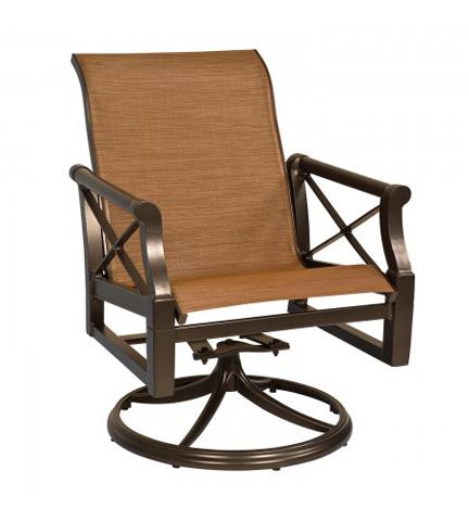 Woodard Company - Andover Sling Swivel Rocker Dining Arm Chair - 3Q0472