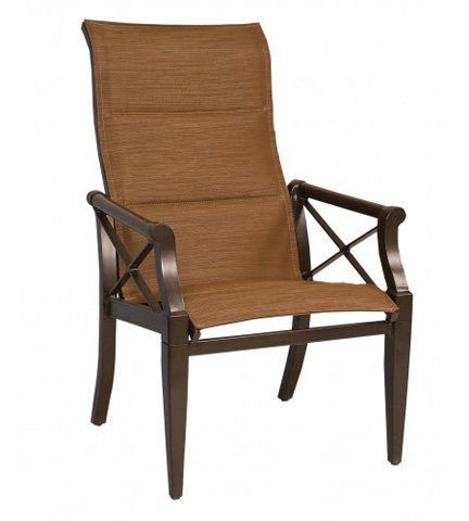 Woodard Company - Andover Padded Sling High-Back Dining Arm Chair - 3Q0525