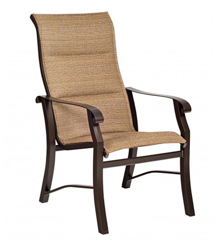 Woodard Company - Cortland Padded Sling High-Back Dining Arm Chair - 42H526