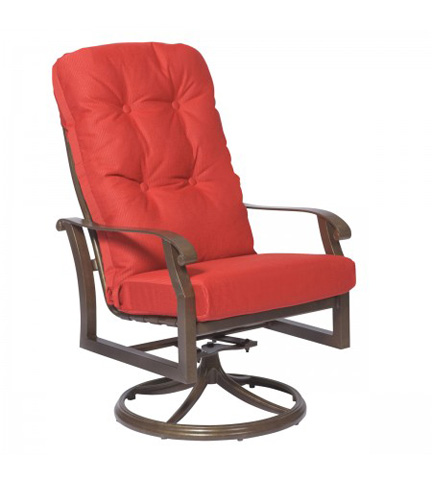 Woodard Company - Cortland Cushion High-Back Swivel Rocker - 4ZM488