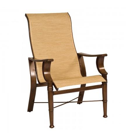 Woodard Company - Arkadia Sling High-Back Dining Arm Chair - 5H0425
