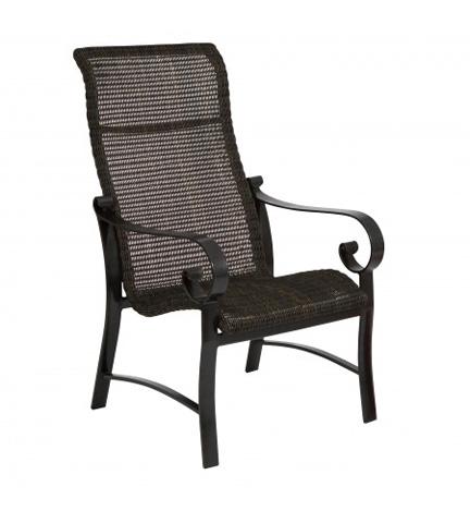 Woodard Company - Belden Round Weave High-Back Dining Arm Chair - 5J0425