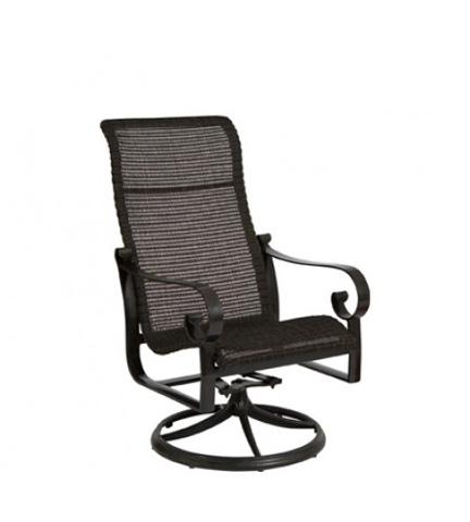Woodard Company - Belden Round Weave High-Back Swivel Rocker - 5J0466