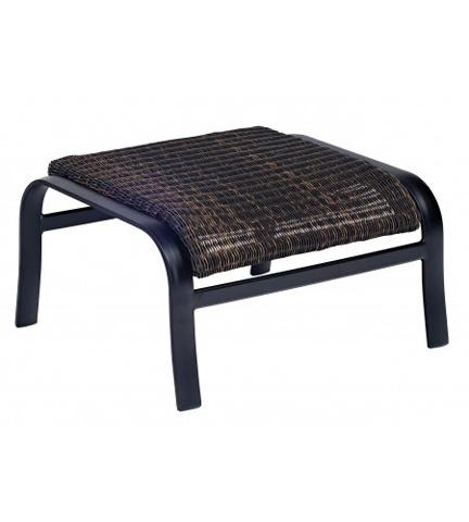 Woodard Company - Belden Round Weave Ottoman - 5J0486