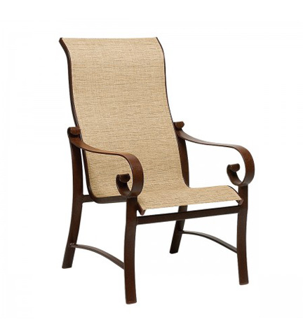 Woodard Company - Belden Sling High-Back Dining Arm Chair - 62H425