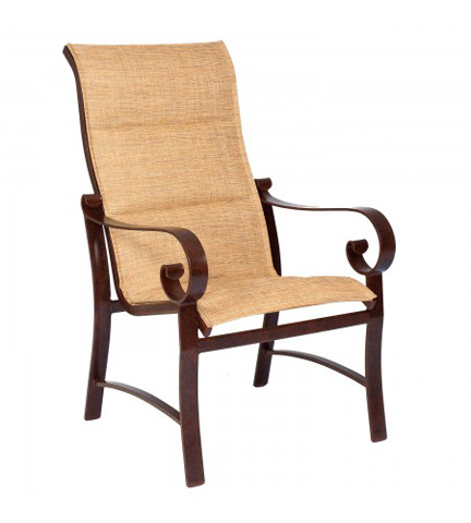 Woodard Company - Belden Padded Sling High-Back Dining Arm Chair - 62H525