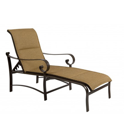 Woodard Company - Belden Padded Sling Adjustable Chaise Lounge - 62H570