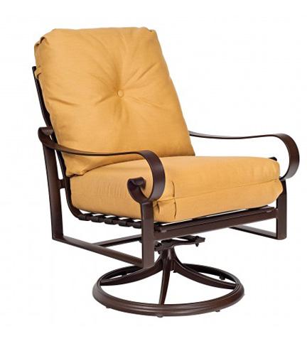 Woodard Company - Belden Cushion Swivel Rocking Lounge Chair - 690477M