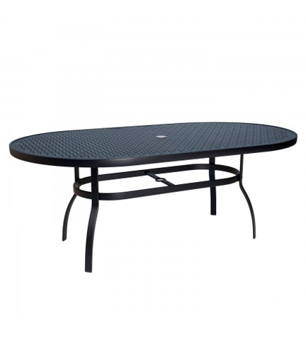 Woodard Company - Deluxe Oval Umbrella Table with Lattice Top - 826174WL