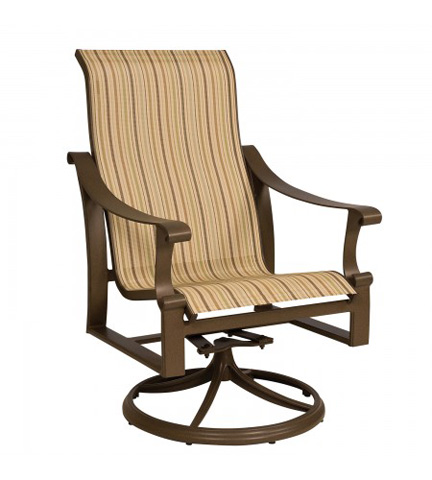Woodard Company - Bungalow Sling High-Back Swivel Rocker - 830466