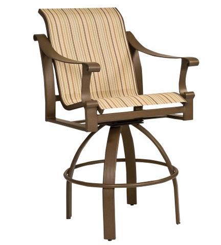Woodard Company - Bungalow Sling Swivel Barstool - 830468