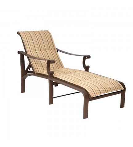 Woodard Company - Bungalow Padded Sling Adjustable Chaise Lounge - 830570
