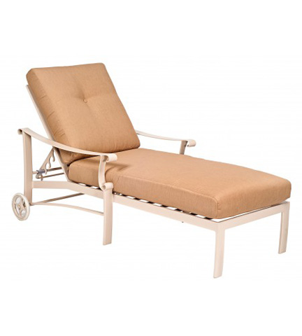Woodard Company - Bungalow Cushion Adjustable Chaise Lounge - 8Q0470