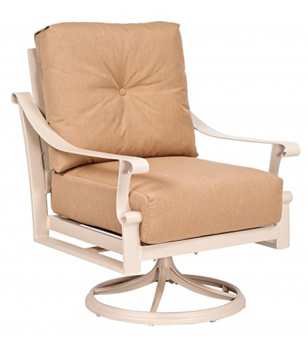 Woodard Company - Bungalow Cushion Swivel Rocking Dining Chair - 8Q0472