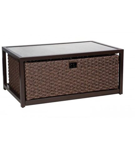 Woodard Company - Mona Cocktail Table with Drawer - S520211