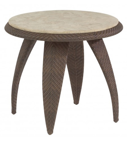 Woodard Company - Bali End Table with Stone Top - S533203