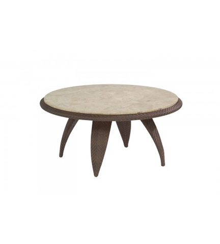 Woodard Company - Bali Cocktail Table with Stone Top - S533213