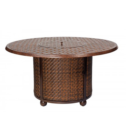 Woodard Company - North Shore Fire Pit Woven Base with Thatch Top - S540711