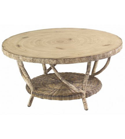 Woodard Company - River Run Cocktail Table with Faux Birch Top - S545211