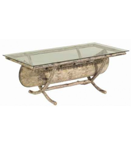 Woodard Company - River Run Canoe Cocktail Table with Glass Top - S545213