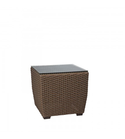 Woodard Company - Augusta Woven Square End Table with Glass Top - S592201