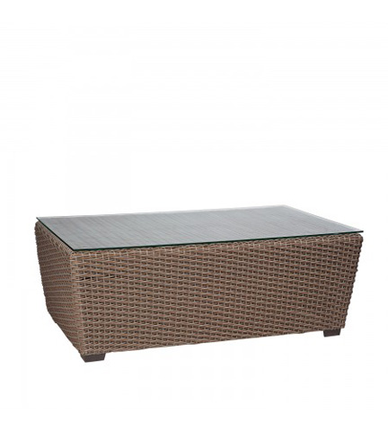 Woodard Company - Augusta Woven Cocktail Table with Glass Top - S592211