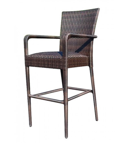 Woodard Company - All-Weather Padded Seat Barstool with Arms - S593089