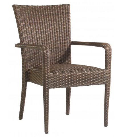 Woodard Company - All-Weather Padded Seat Dining Arm Chair - S593801