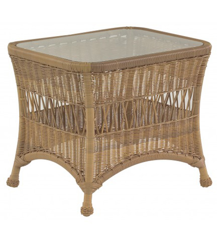 Woodard Company - Sommerwind End Table with Glass Top - S596201