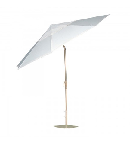 Woodard Company - Aluminum Collar Tilt Umbrella in Champagne - 9881CW