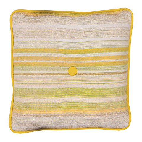 Image of Square Throw Pillow with Button
