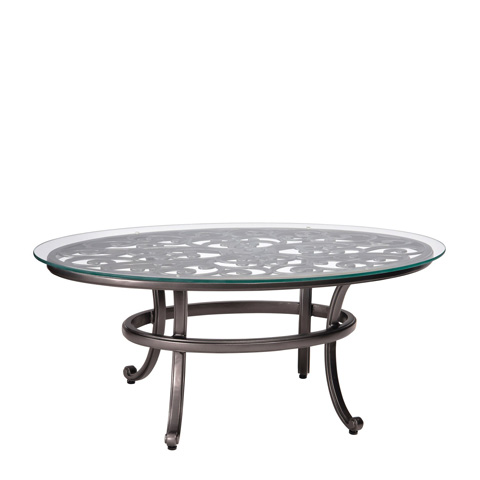 Woodard Company - New Orleans Coffee Table with Glass Top - 3W0443